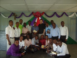 Pastor Strawn with Nigerian Students